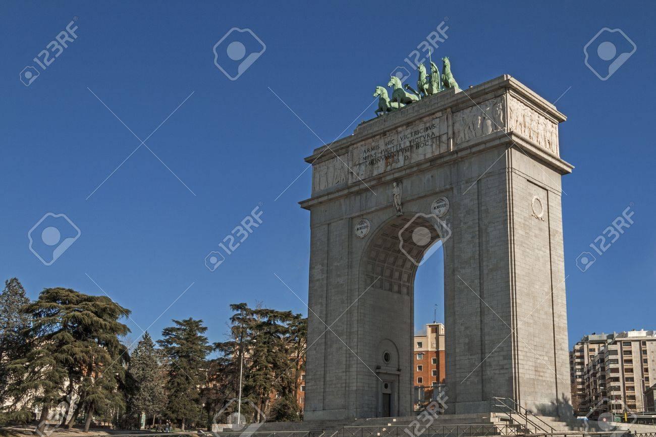 Arco De Triunfo De Madrid Espana Fotos Retratos Imagenes Y