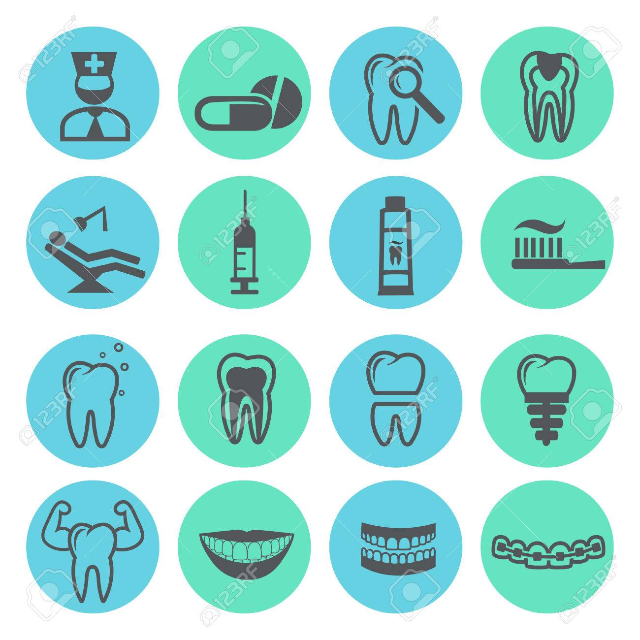 Dental Icons Royalty Free Cliparts, Vectors, And Stock ...