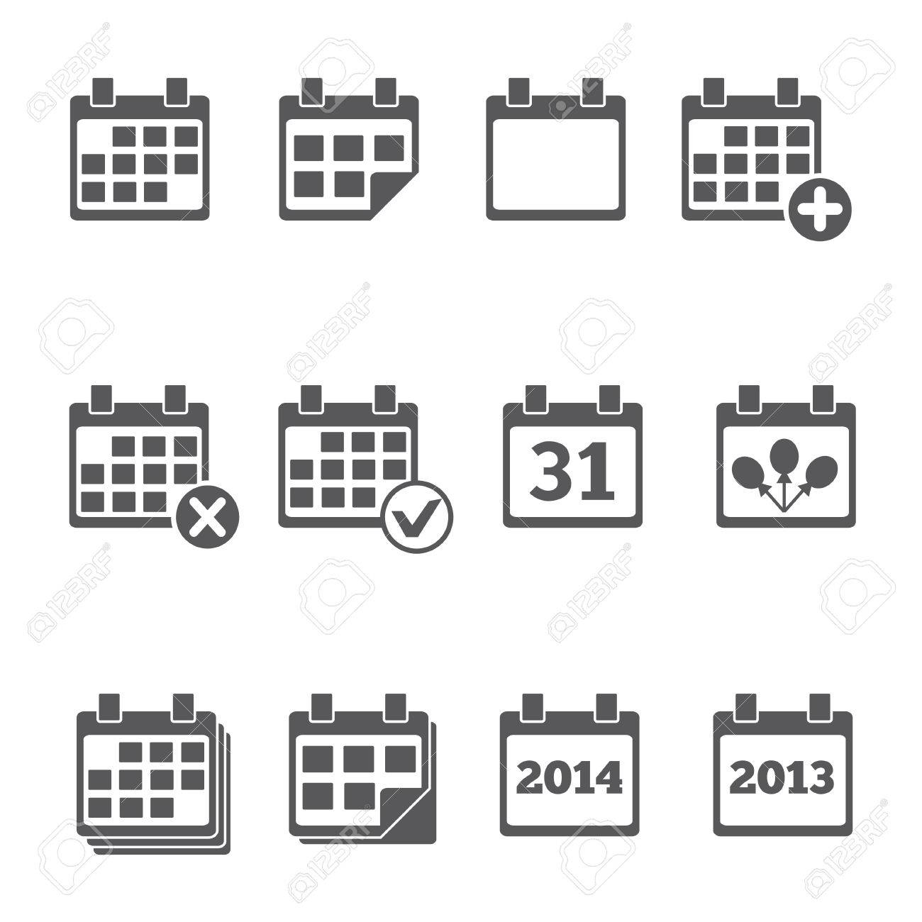 Vector Calendar Icons  event add delete progress Stock Vector - 24799826