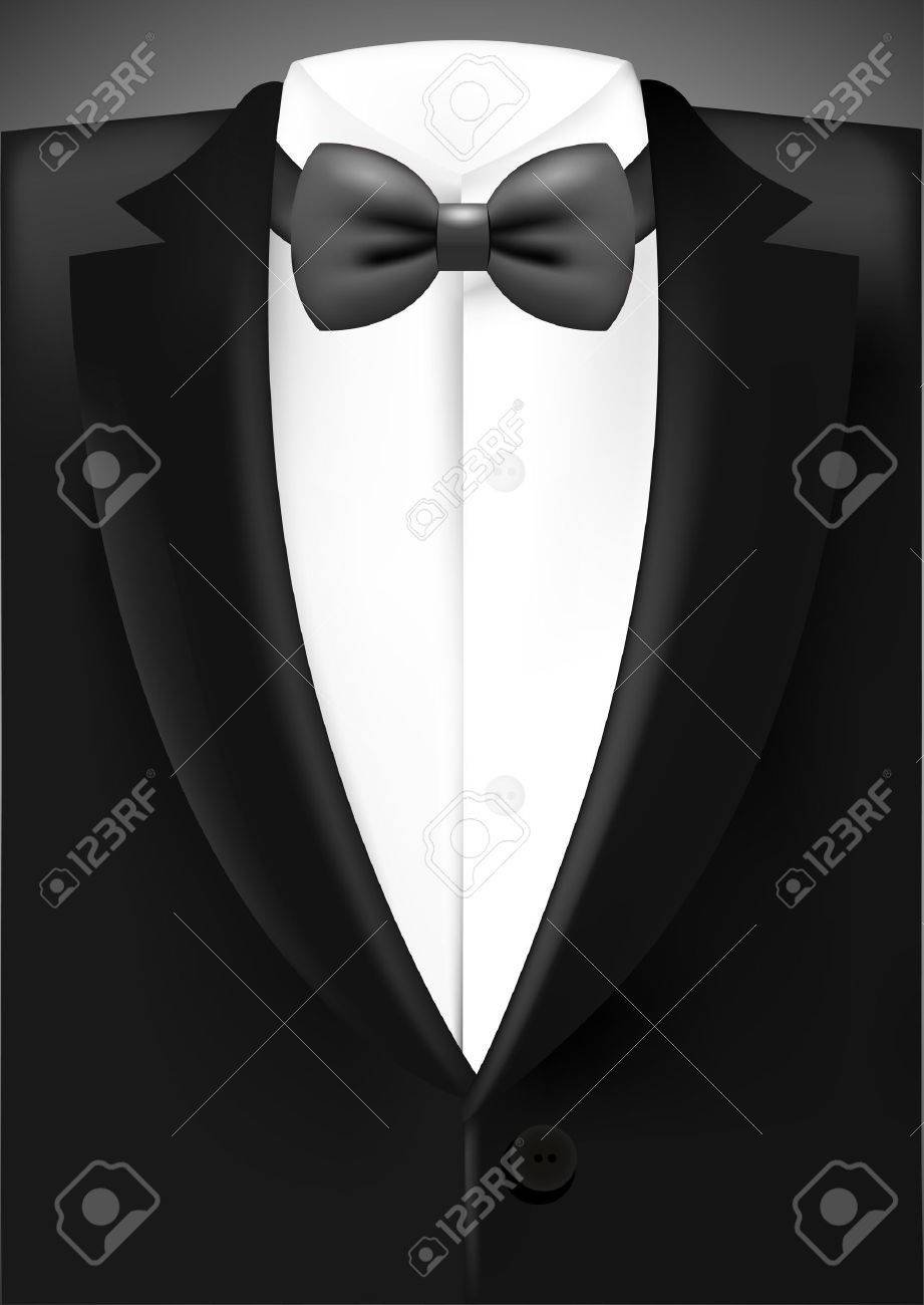 Tuxedo with bow - 25638335