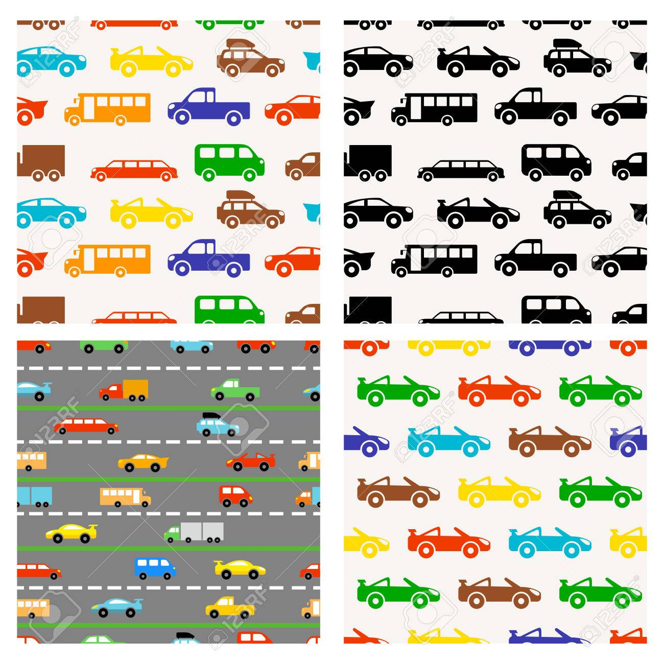 seamless pattern with colorful little cars - 28068887
