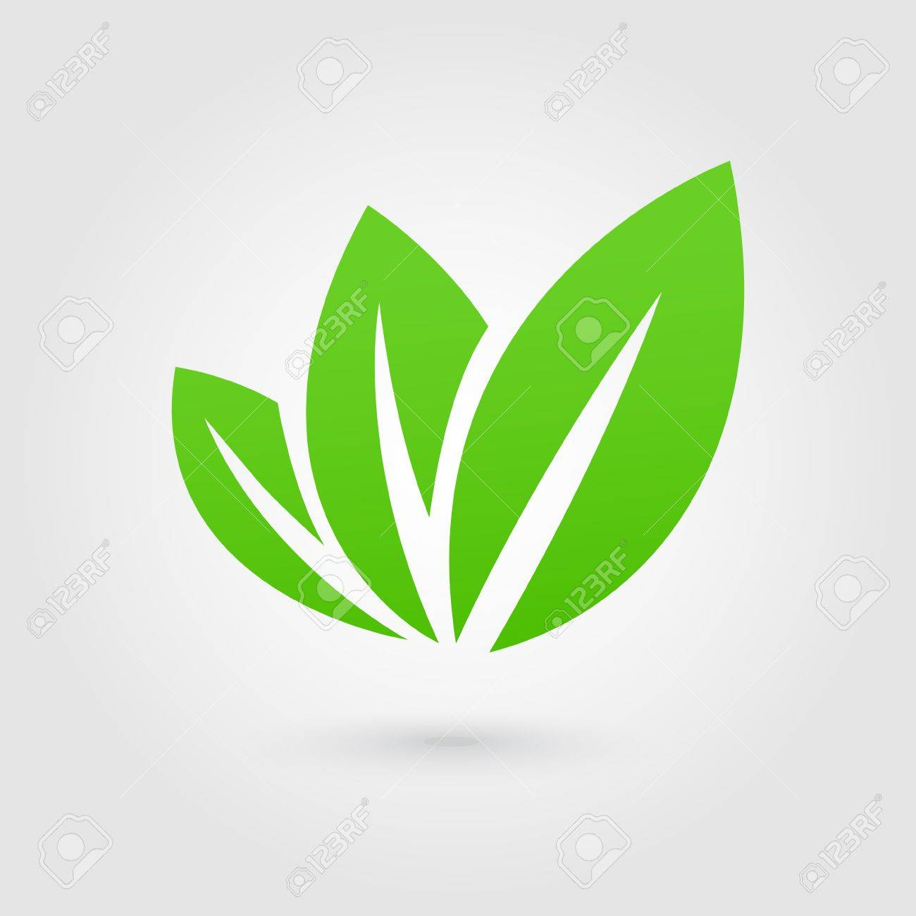 Eco icon green leaf vector illustration isolated - 36626836