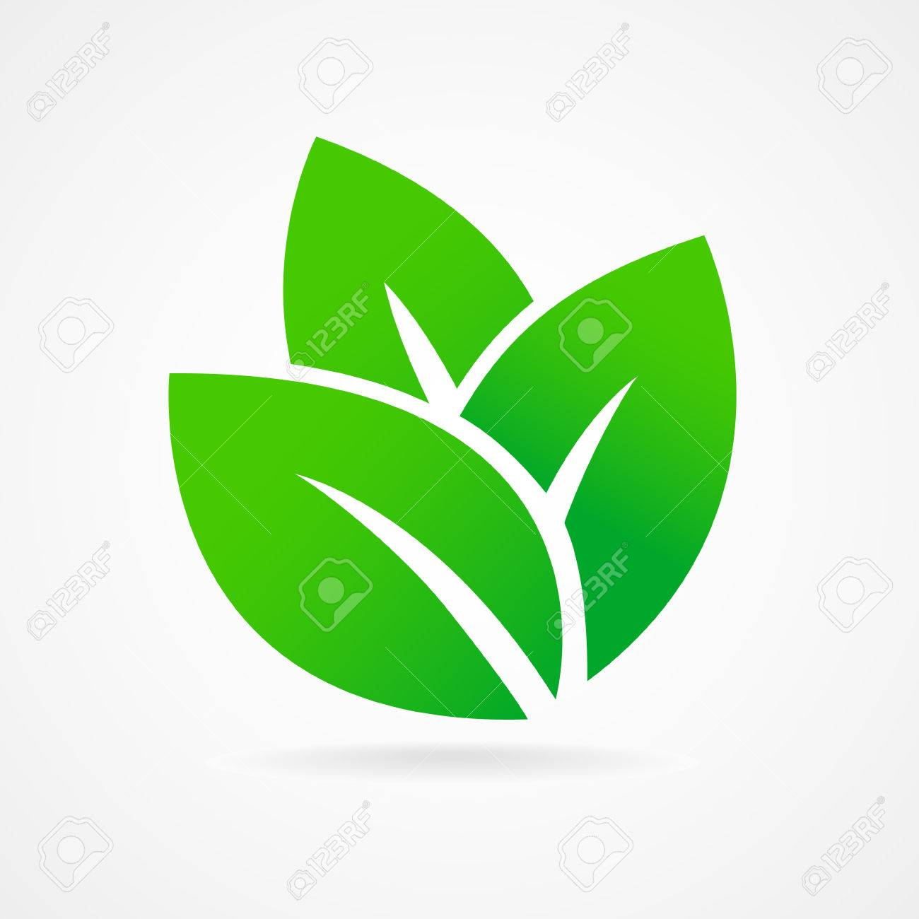 Eco icon green leaf vector illustration isolated - 39896473