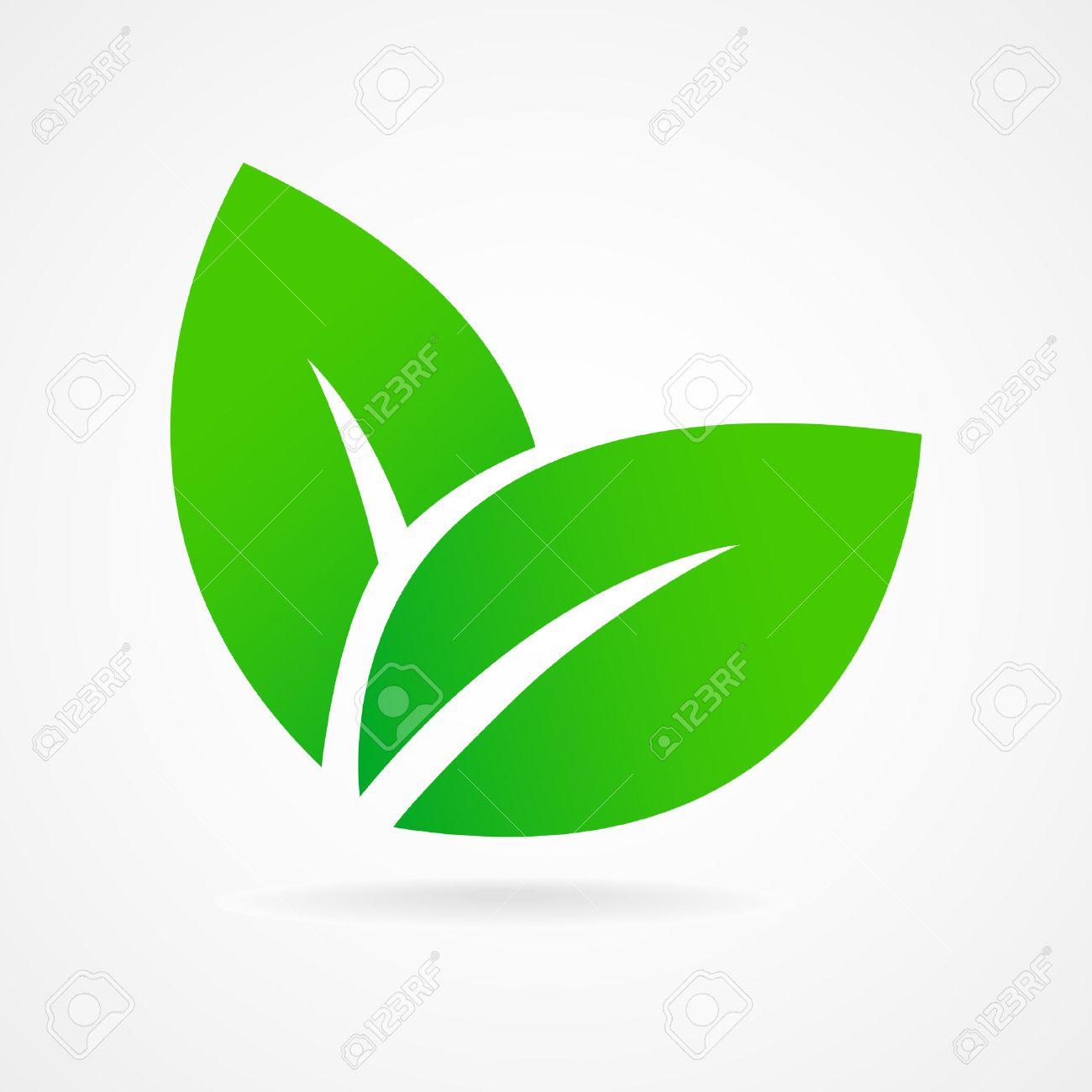 Green leaf ecology emblem isolated vector illustration - 39896475