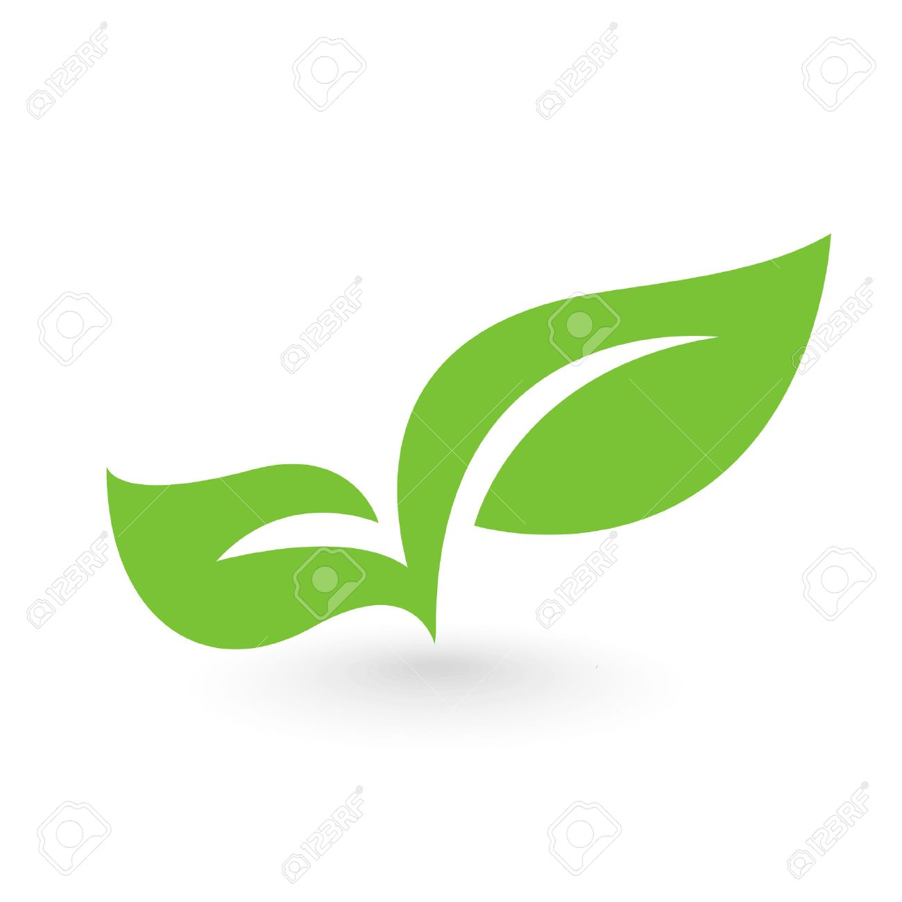 Abstract leafs care vector logo icon. Eco icon with green leaf - 50559159