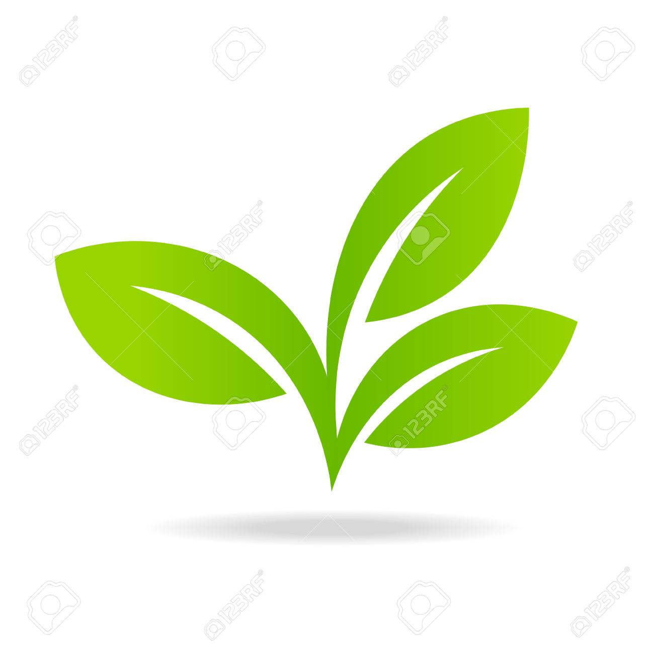 Icon of green leaf ecology nature element - 60555581