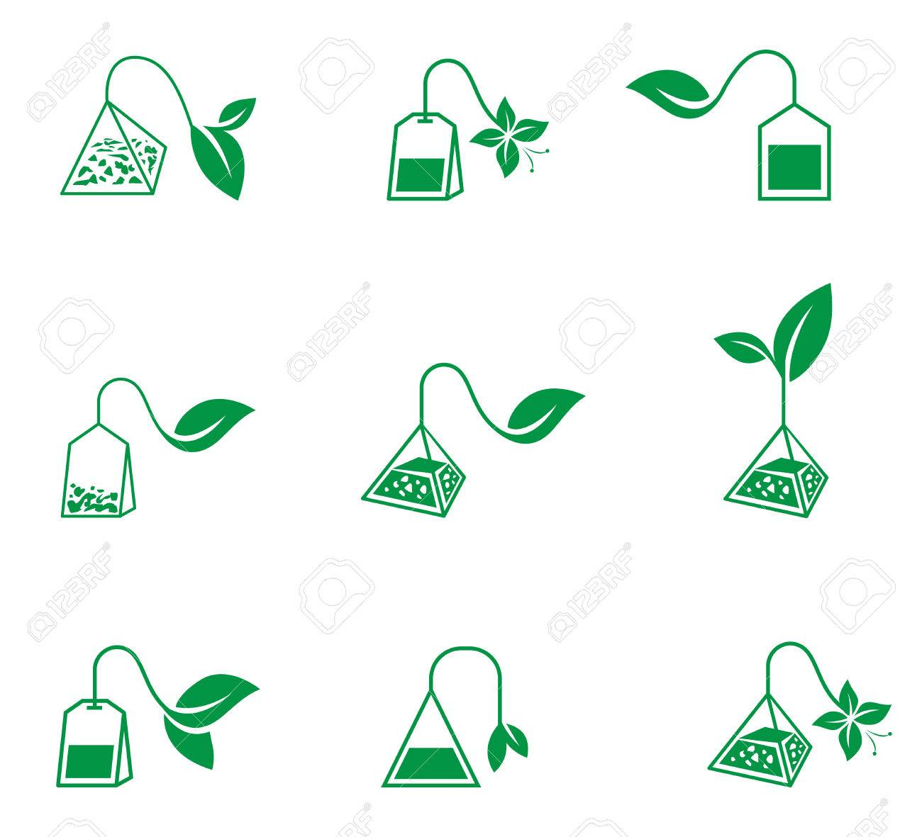 Tea ceremony. Vector icons on a white background. - 70973166