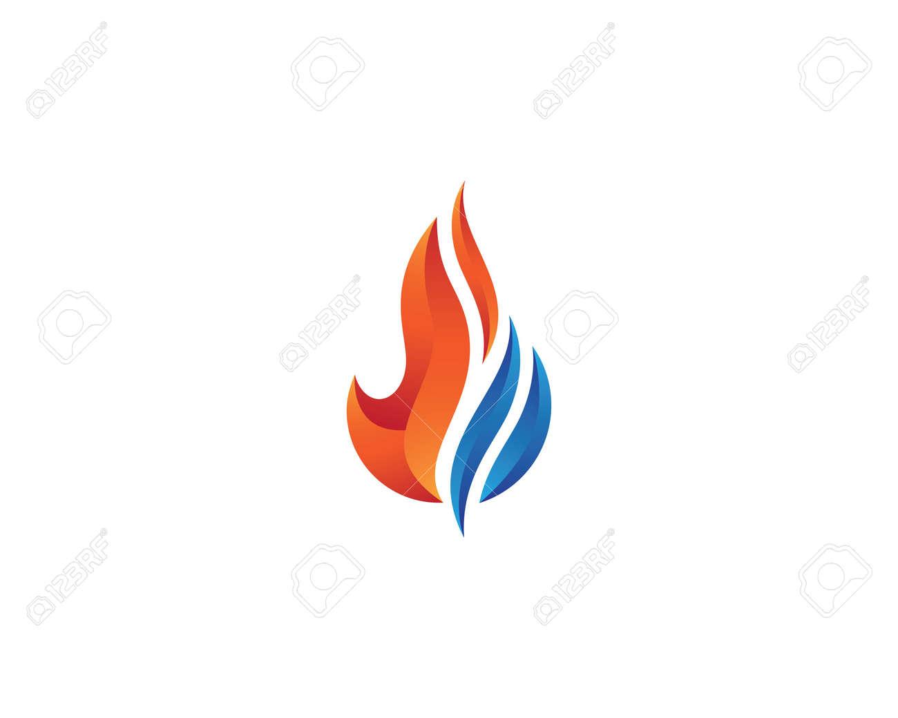 Fire flame logo template vector icon Oil, gas and energy logo concept - 145147202