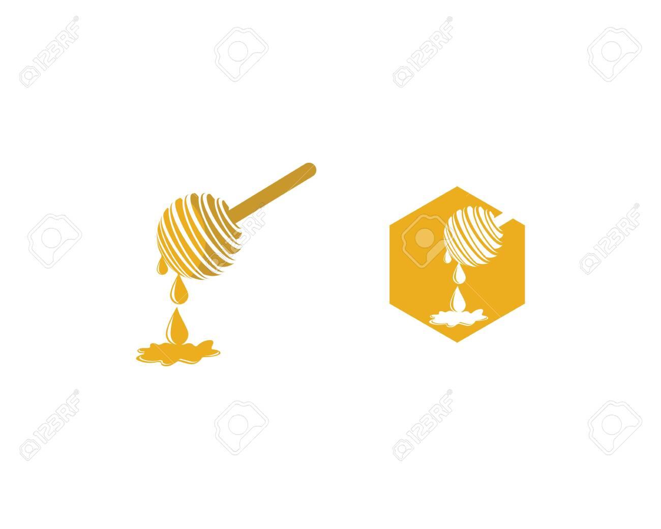 Honey logo template vector icon illustration design - 149250412
