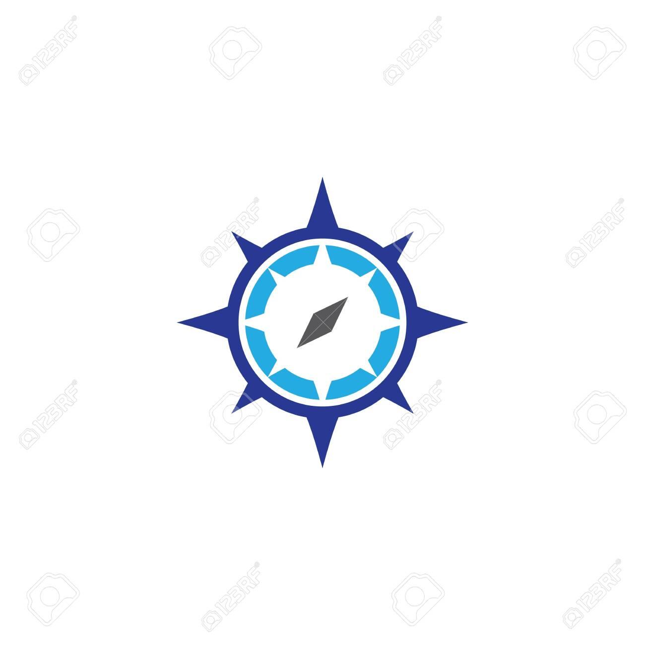 Compass logo template vector icon illustration - 154214249