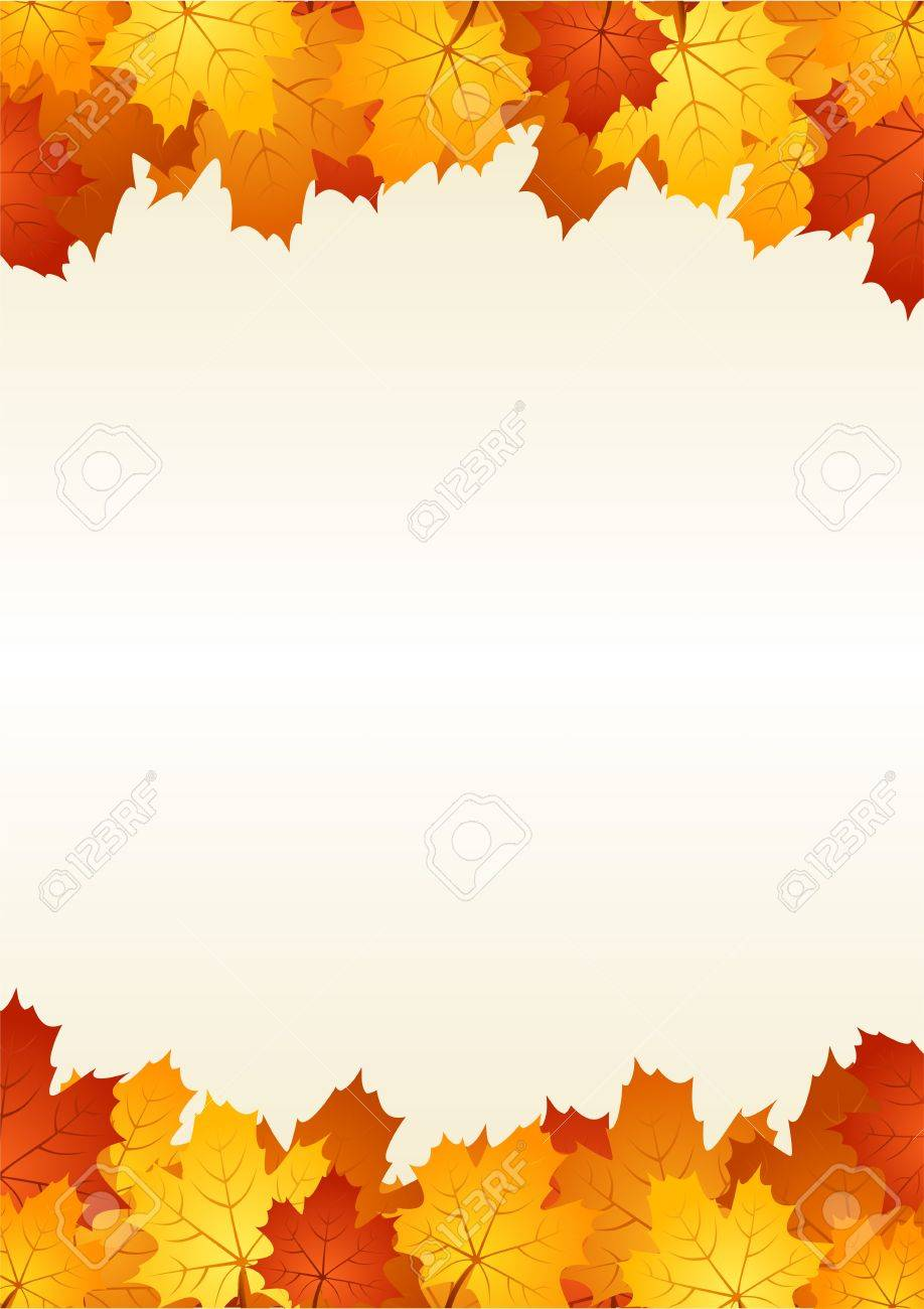 Autumn leaves frame. Vector illustration. Stock Vector - 18259498