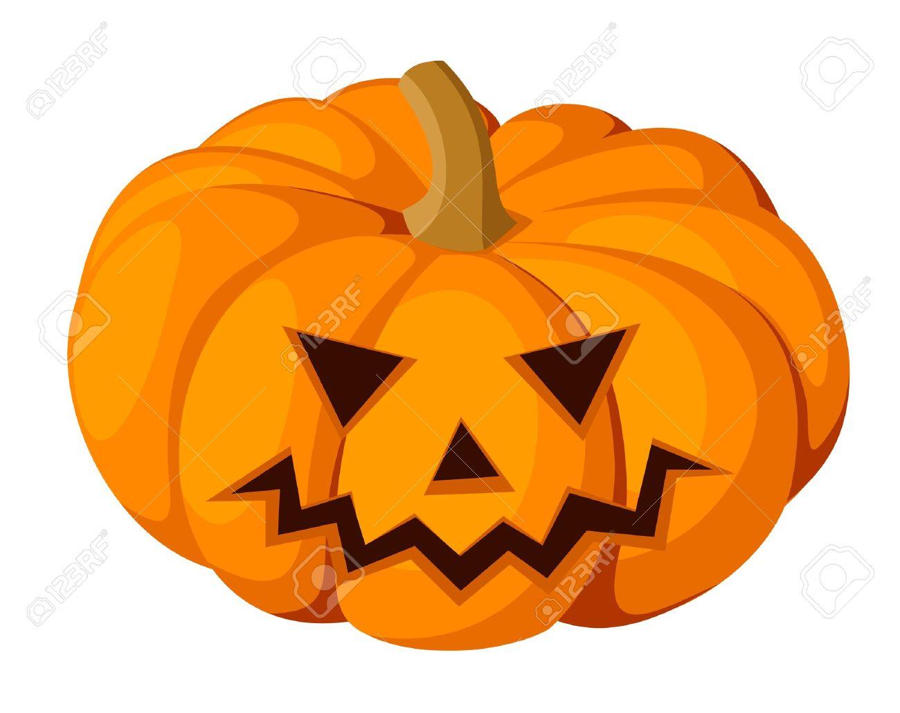 Halloween Pumpkin Vector Art.Jack O Lantern Halloween Pumpkin Vector Illustration