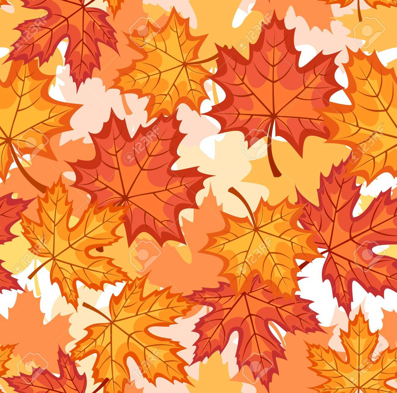 Seamless pattern with autumn maple leaves. Stock Vector - 18273050