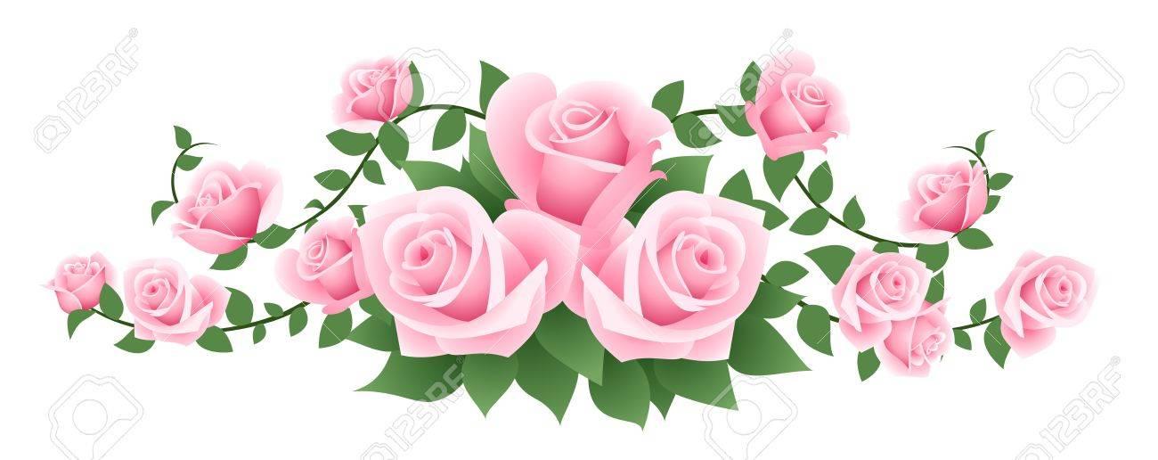ピンクのバラのイラストのイラスト素材ベクタ Image 18273148