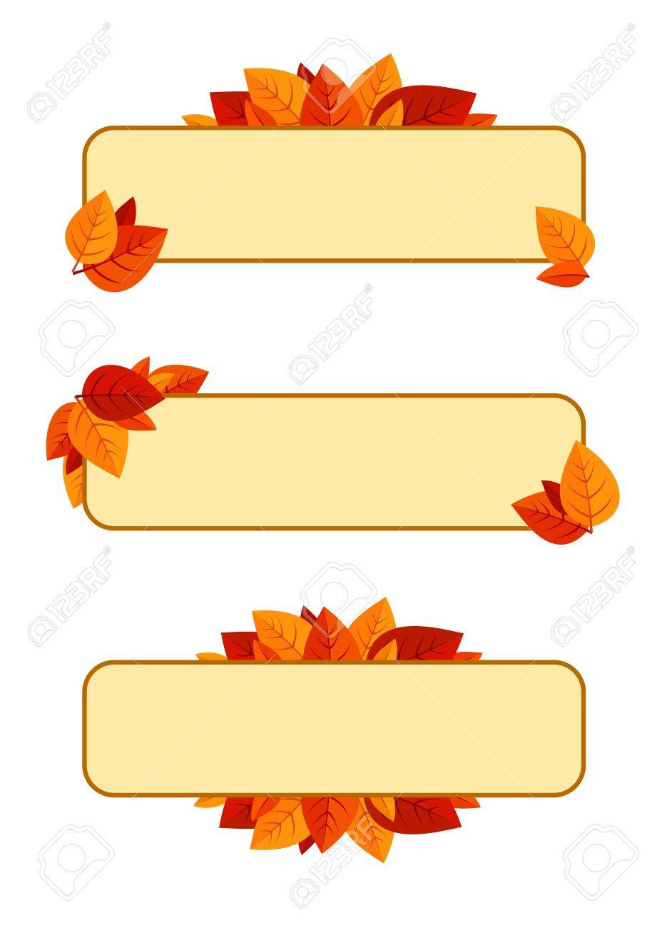 Set of three vector banners with autumn leaves Stock Vector - 18476308