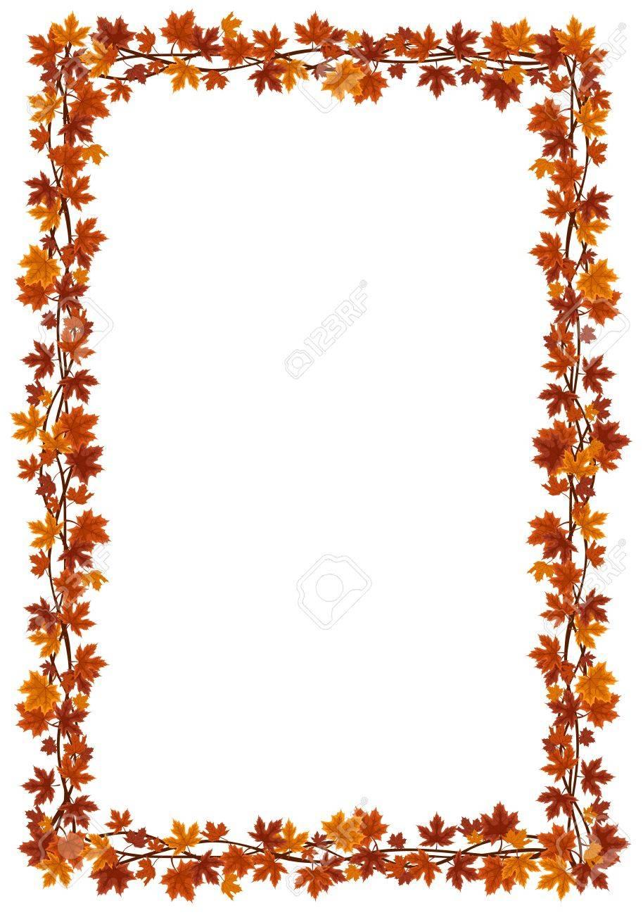 Autumn maple leaves frame. Stock Vector - 18273320