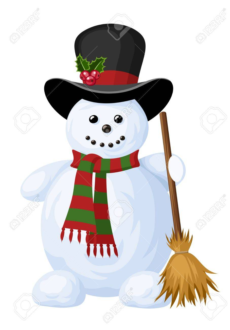 Christmas snowman. Stock Vector - 18272891