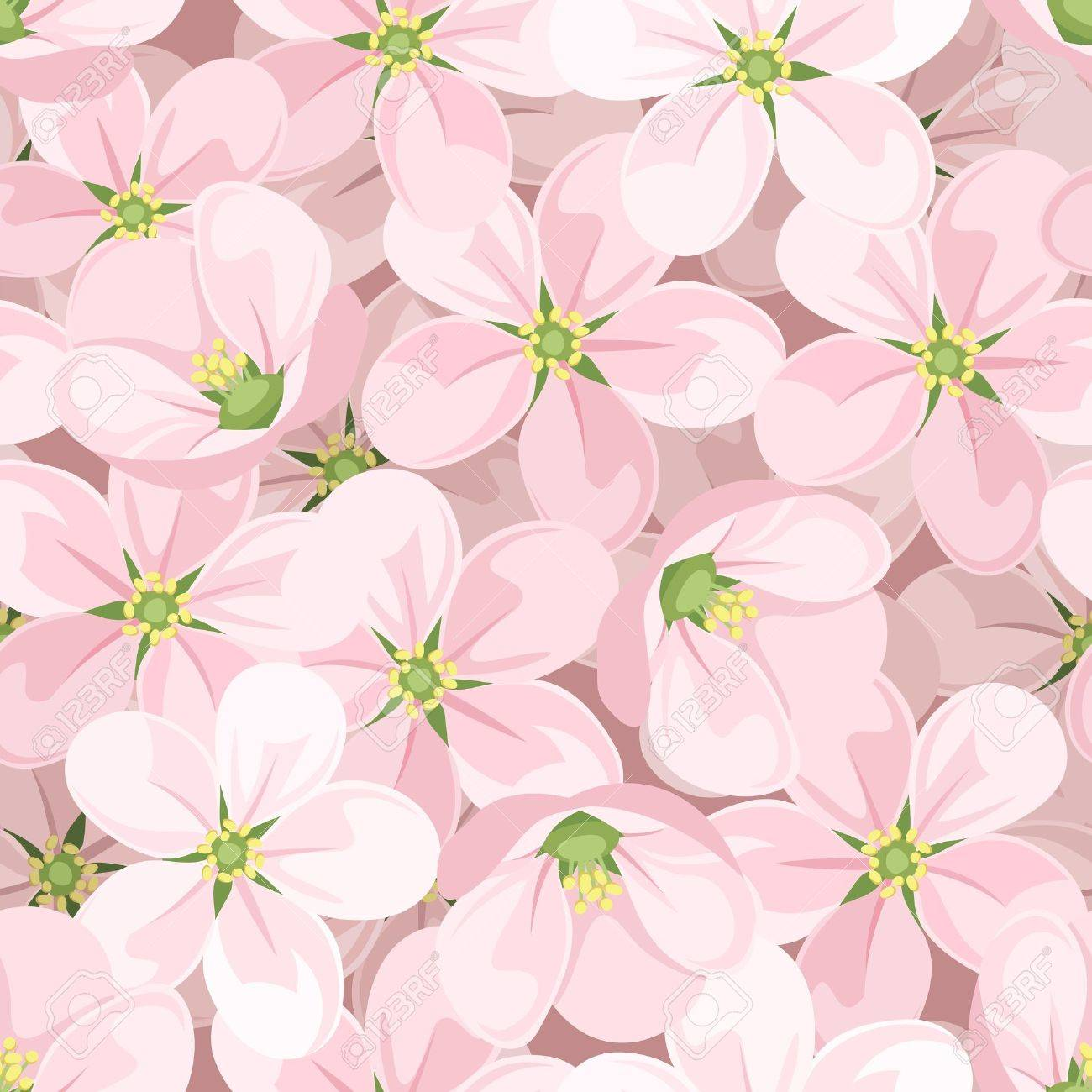 Seamless background with apple blossoms. Stock Vector - 18289057