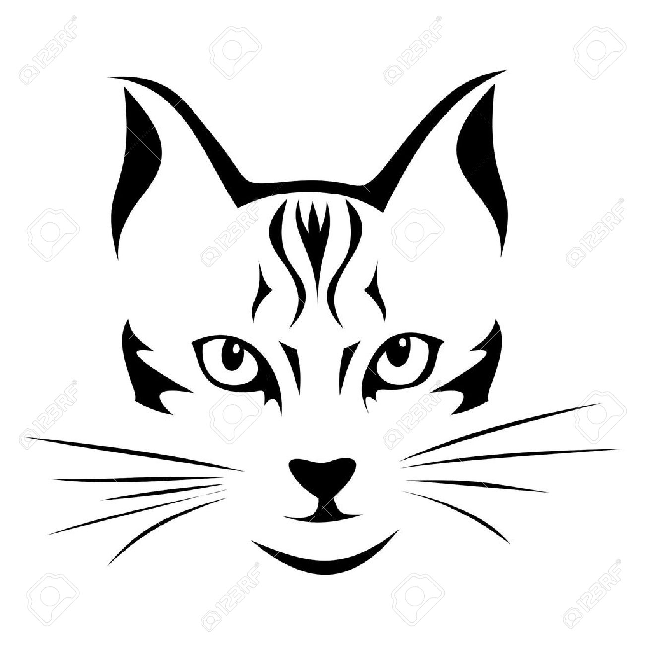 Black Silhouette Of Cat Vector Illustration Royalty Free Cliparts Jpg 1300x1300 Ears