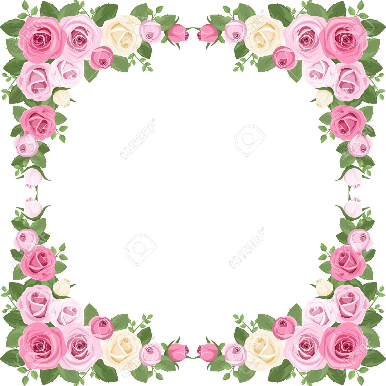 Vintage Roses Frame. Illustration. Royalty Free Cliparts, Vectors ...