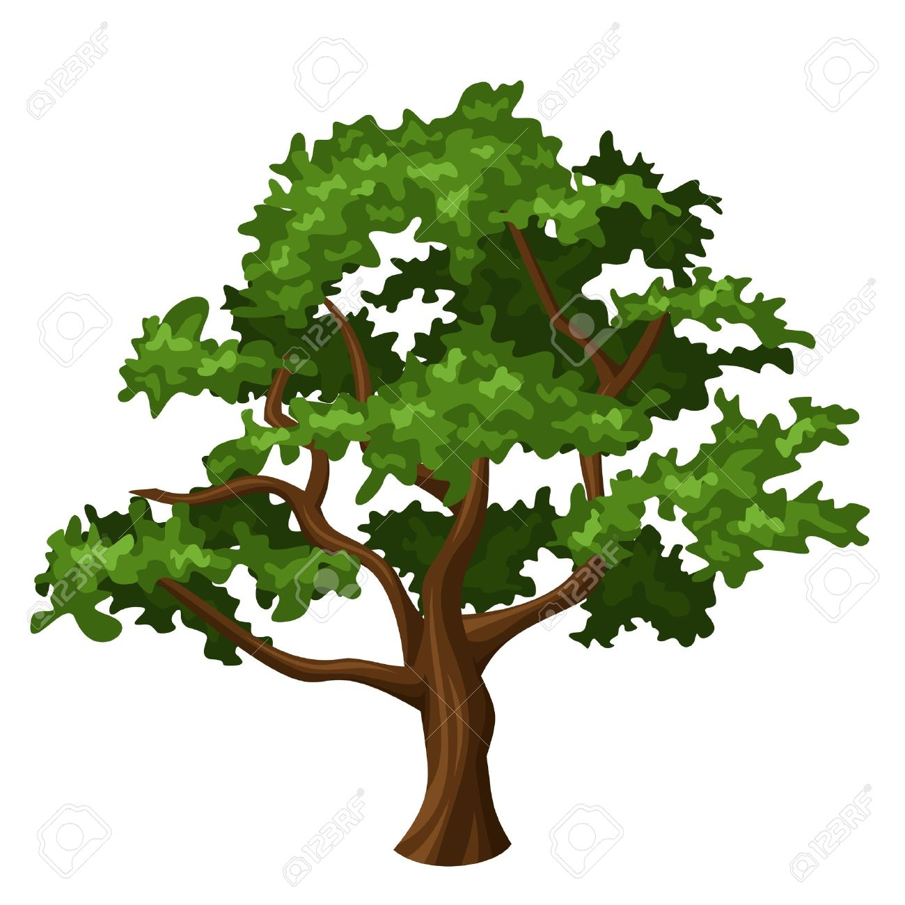 oak tree royalty free cliparts vectors and stock illustration rh 123rf com oak tree vector download vector oak tree silhouette