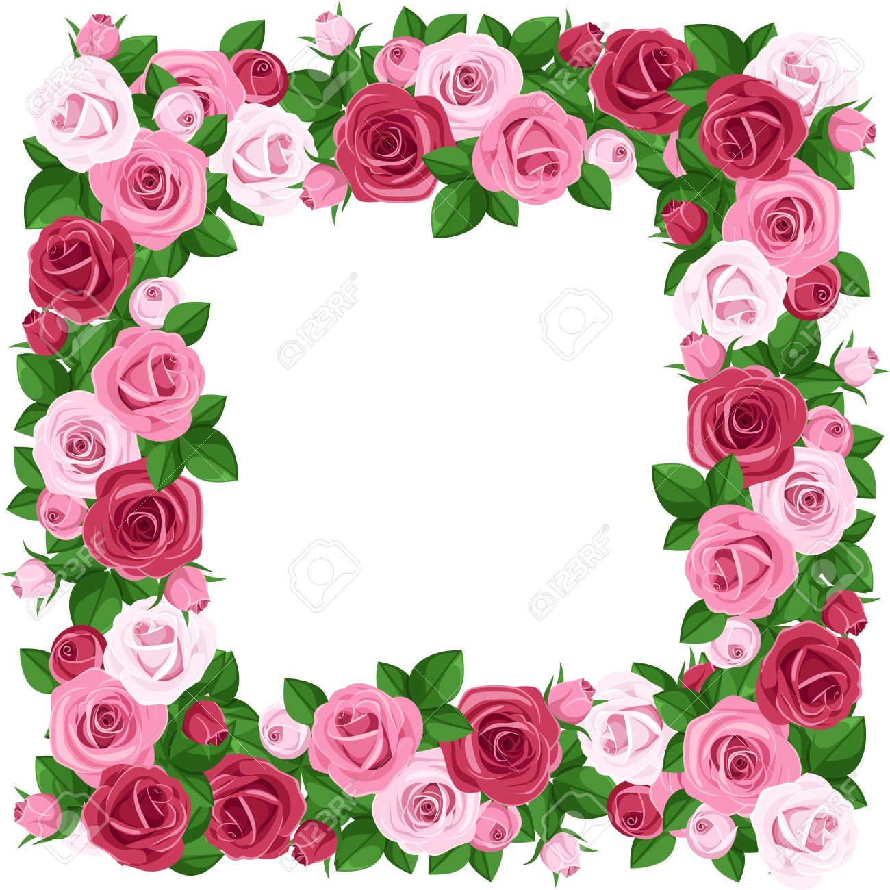 23795 Rose Border Stock Illustrations Cliparts And Royalty Free within Clip Art Rose Border
