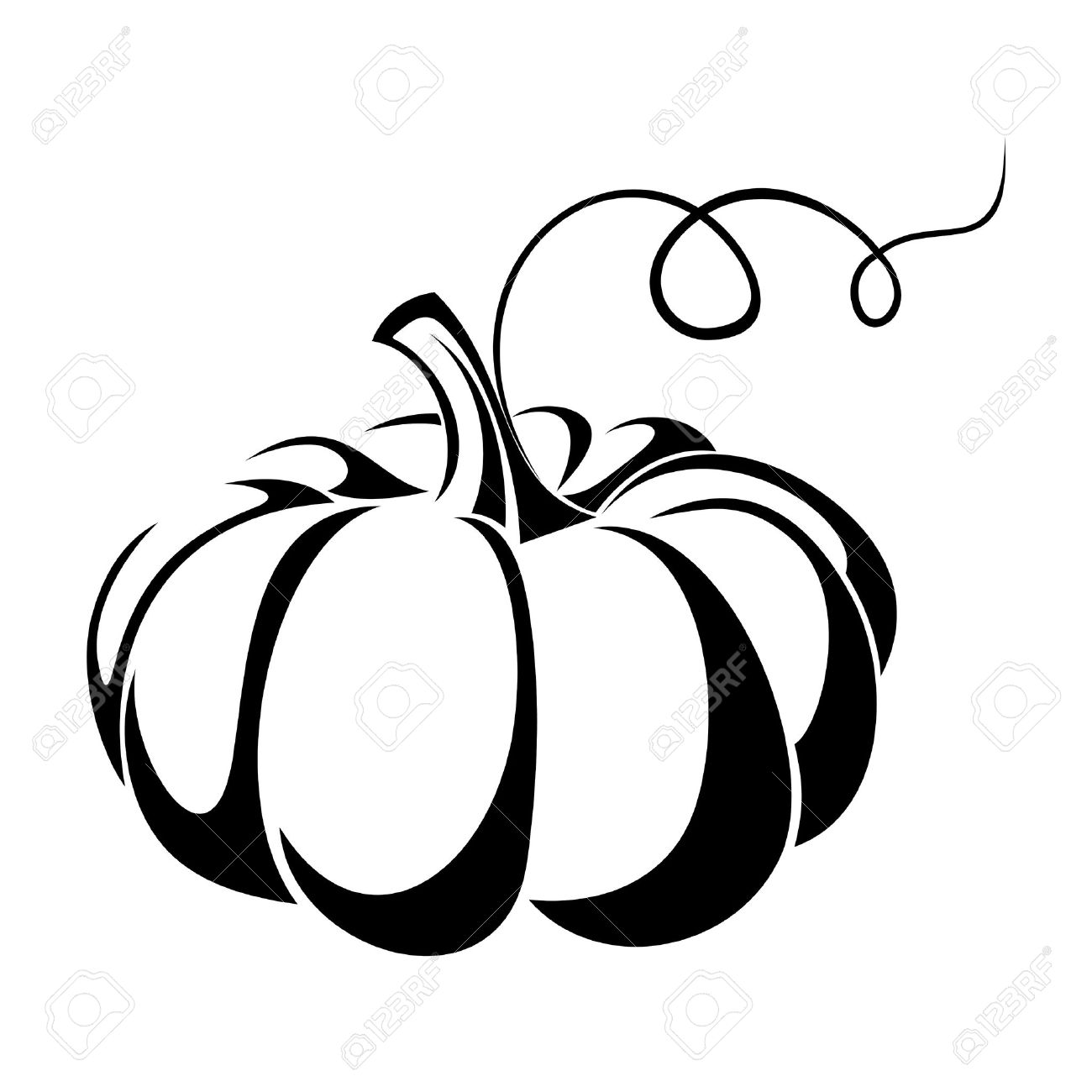 pumpkin vector black silhouette royalty free cliparts vectors and rh 123rf com Halloween Pumpkin Vector Pumpkin Clip Art Vector