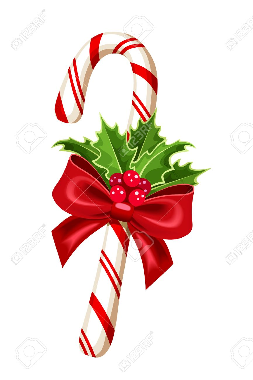 Christmas Candy Cane.Christmas Candy Cane Vector Illustration