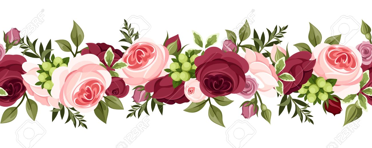 20,707 Rose Border Stock Illustrations, Cliparts And Royalty Free ...
