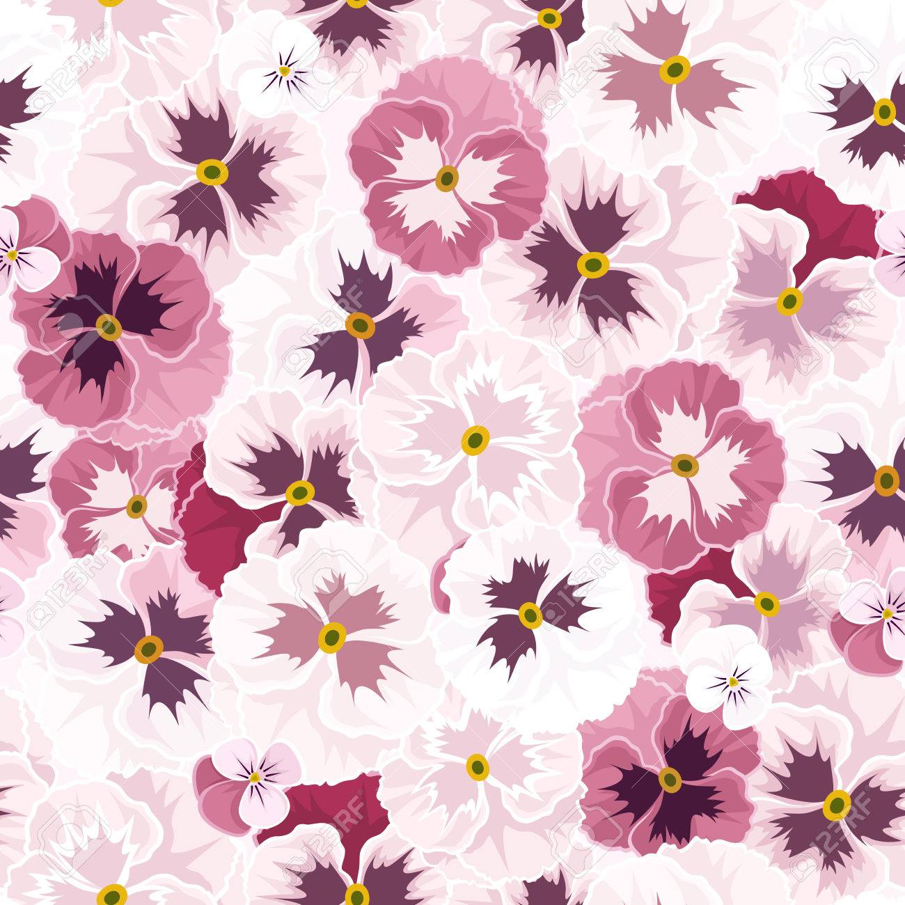 Seamless pattern with pink pansy flowers vector illustration royalty seamless pattern with pink pansy flowers vector illustration stock vector 28138273 mightylinksfo