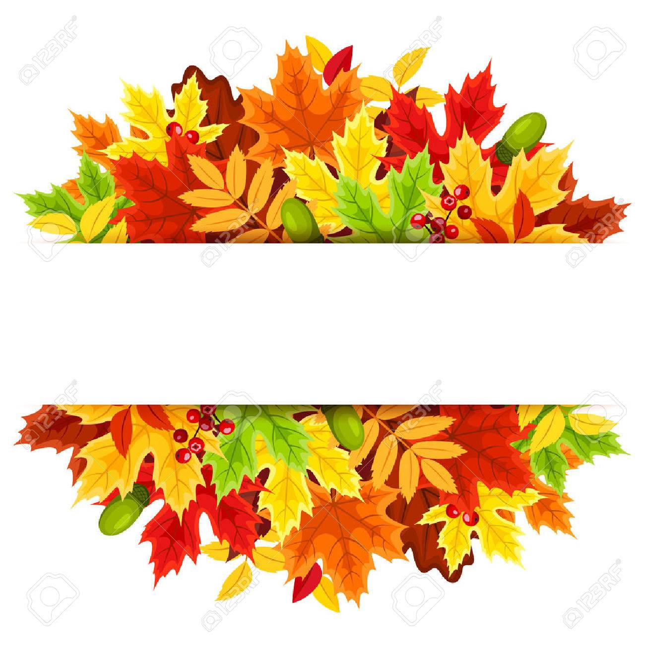 Background With Colorful Autumn Leaves Royalty Free Cliparts Vectors And Stock Illustration Image 32522344
