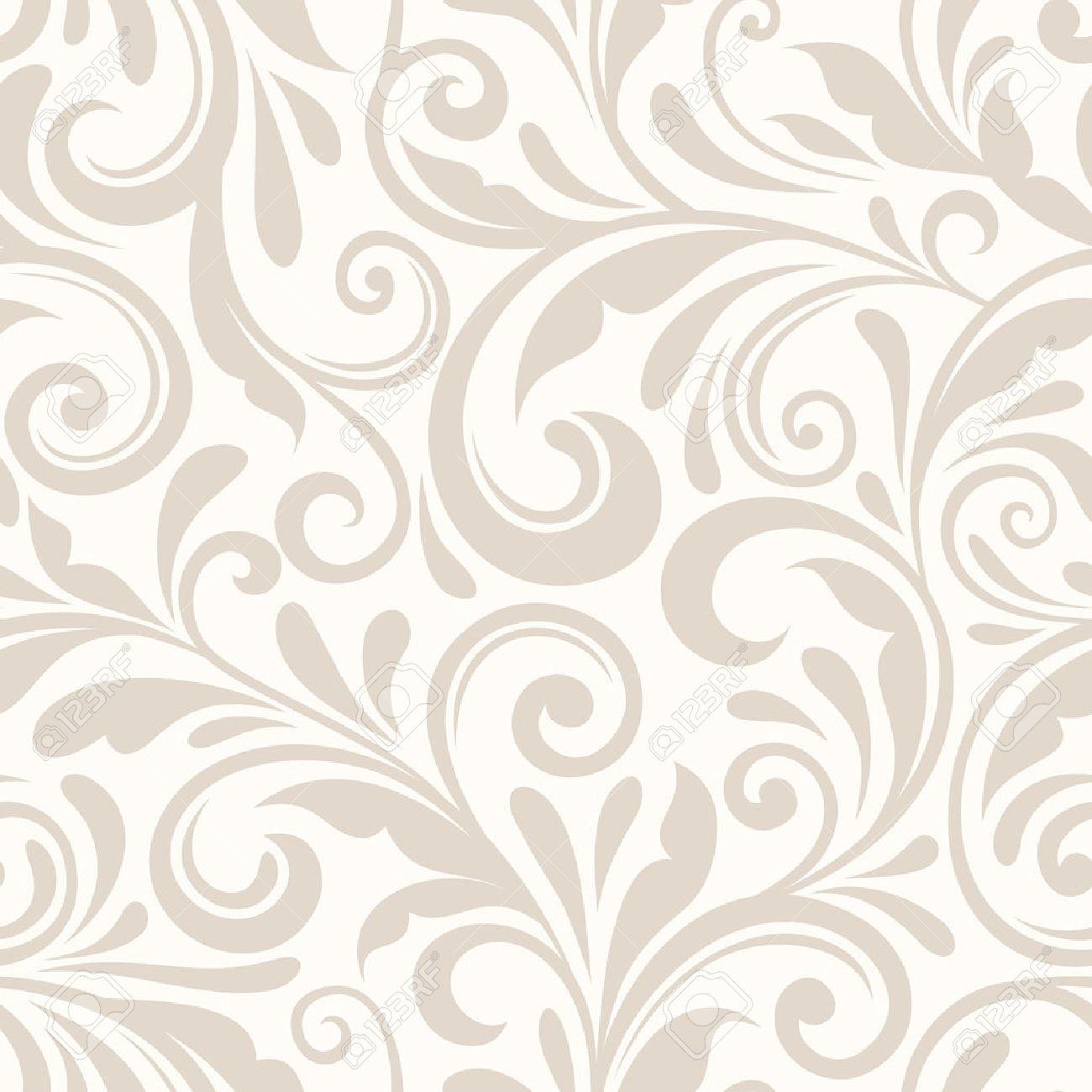 vintage seamless beige floral pattern vector illustration royalty