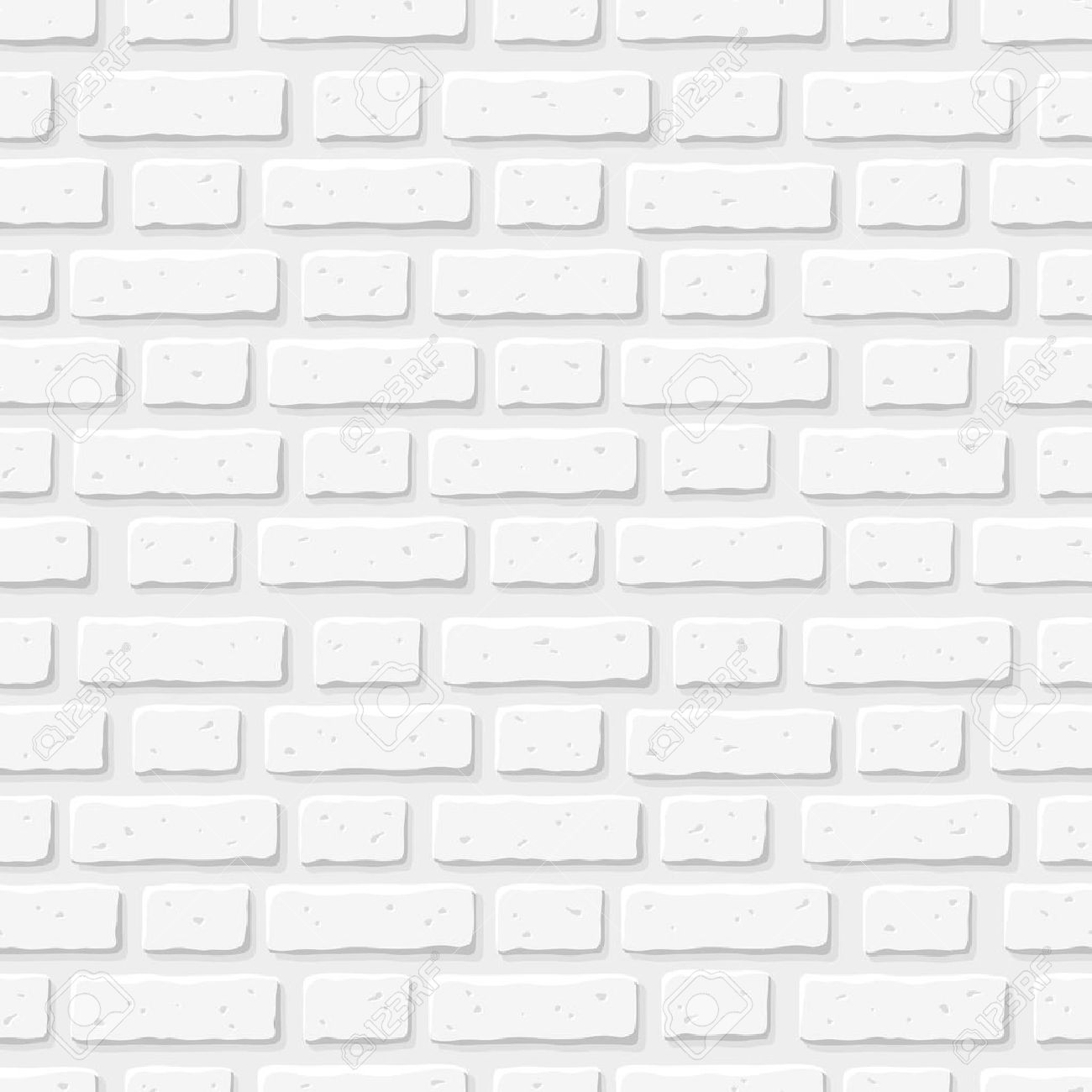 Pared De Ladrillo Blanco Textura Inconsutil Del Vector - Pared-ladrillo-blanco