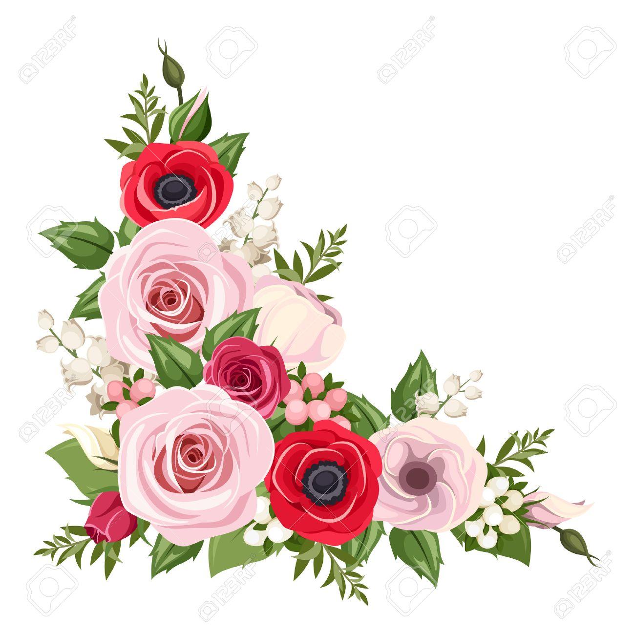 coin fleur banque d'images, vecteurs et illustrations libres de droits