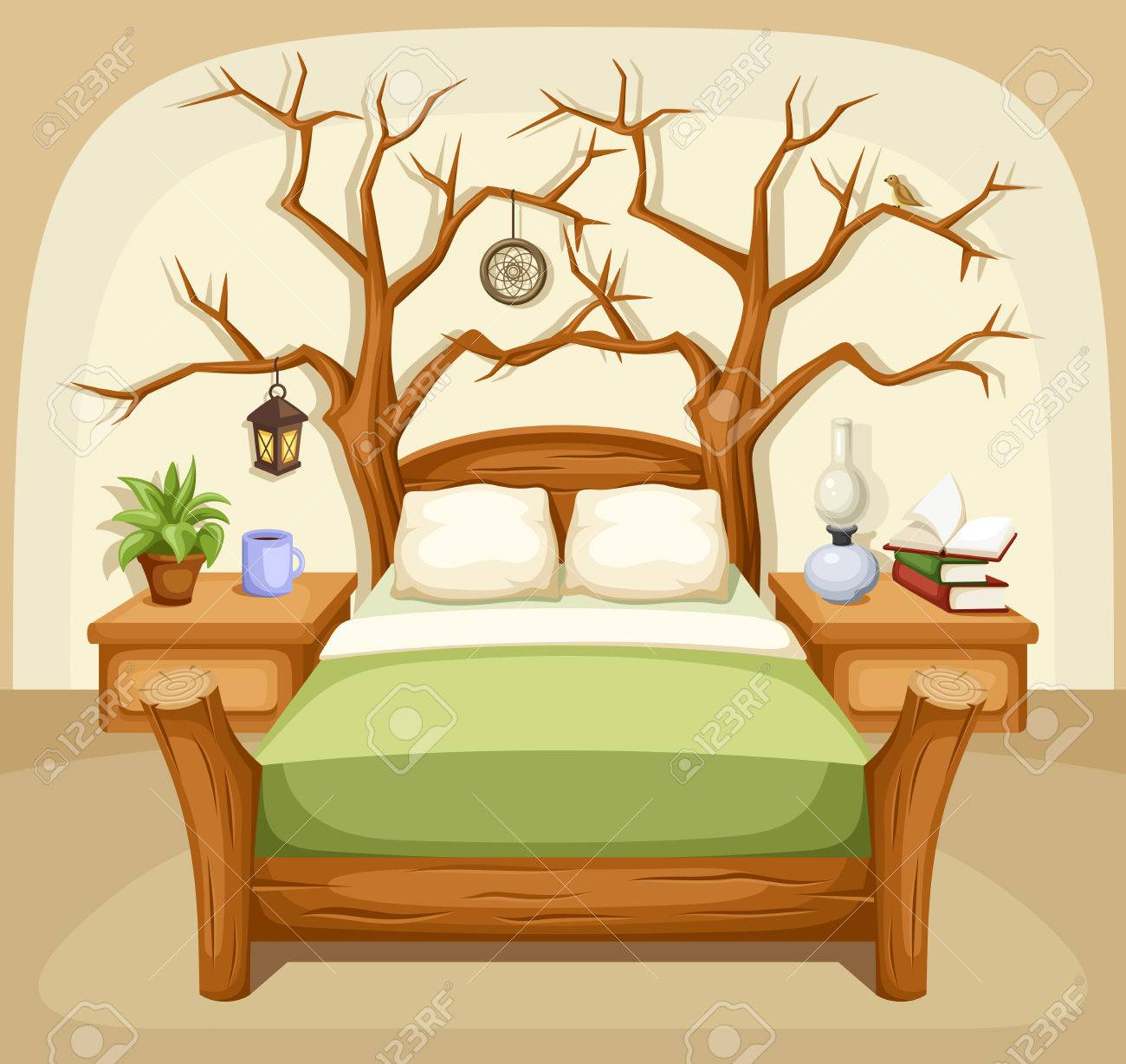 Fantasy Bedroom Interior Vector Illustration Royalty Free Cliparts Vectors And Stock Illustration Image 40588198