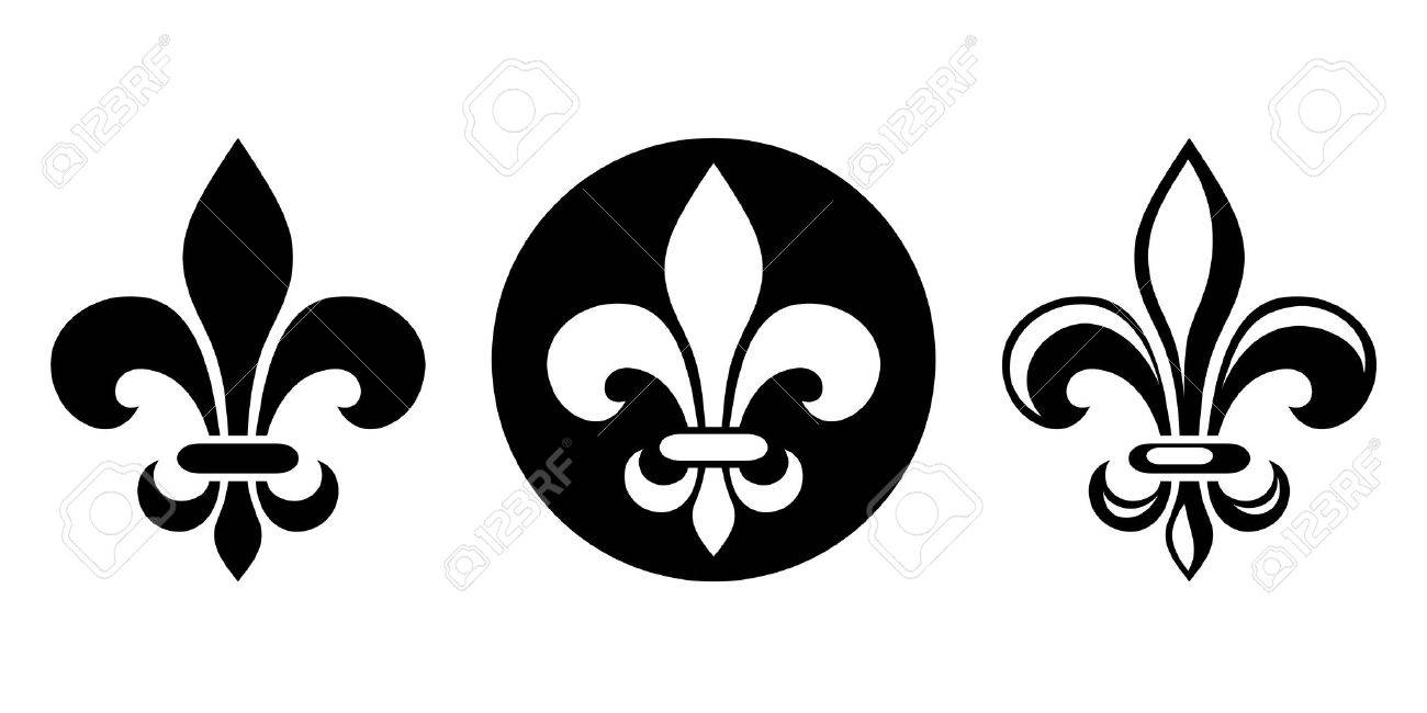 Vector set of three black silhouettes of lily flowers fleur de lis vector vector set of three black silhouettes of lily flowers fleur de lis on a white background izmirmasajfo Choice Image