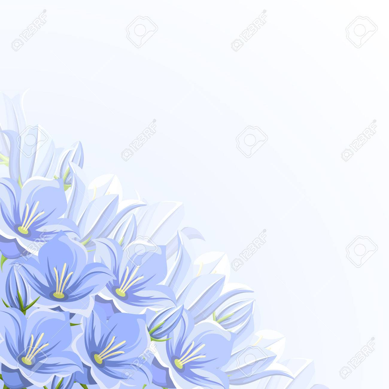 Corner background with blue bluebell flowers royalty free cliparts corner background with blue bluebell flowers stock vector 54267588 mightylinksfo Gallery