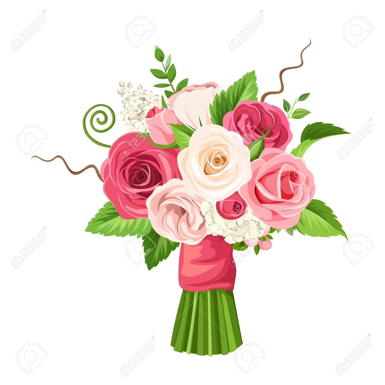 Bouquet Of Roses vector bouquet of roses and flowers royalty free cliparts, vectors