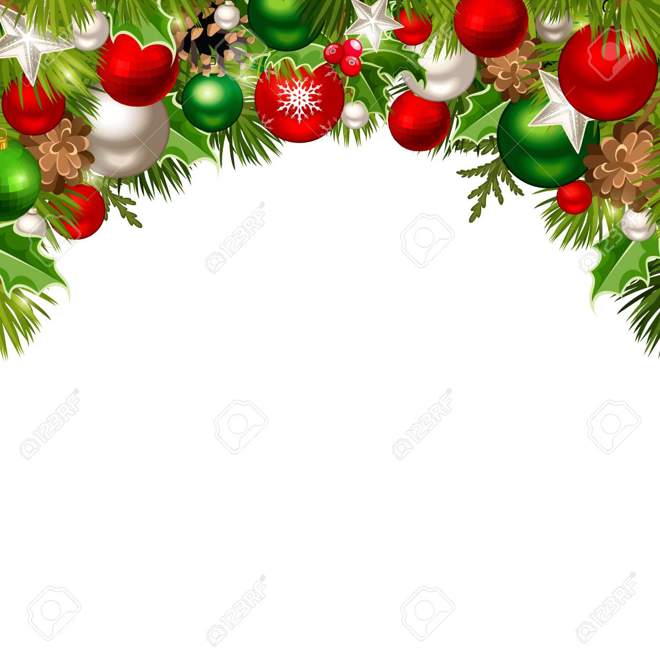 vector christmas background with red green and silver balls royalty free cliparts vectors and stock illustration image 89472146 vector christmas background with red green and silver balls