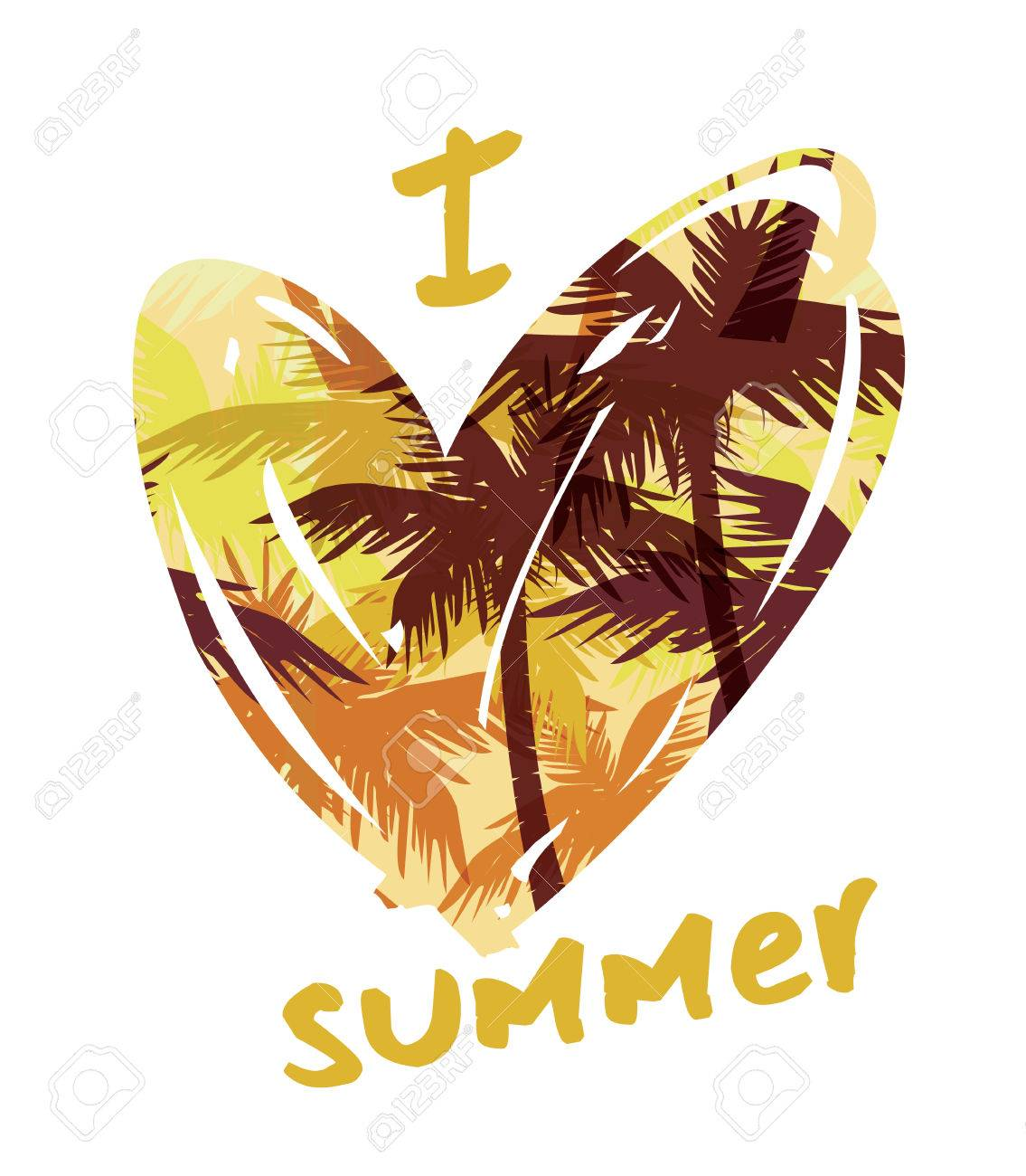 Tropical summer print with slogan for t-shirt graphic and other uses. Vector illustration. - 40912373