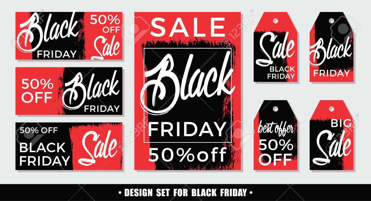 Carte We Black Friday.Black Friday Set Of Vector Design Templates For Poster Card