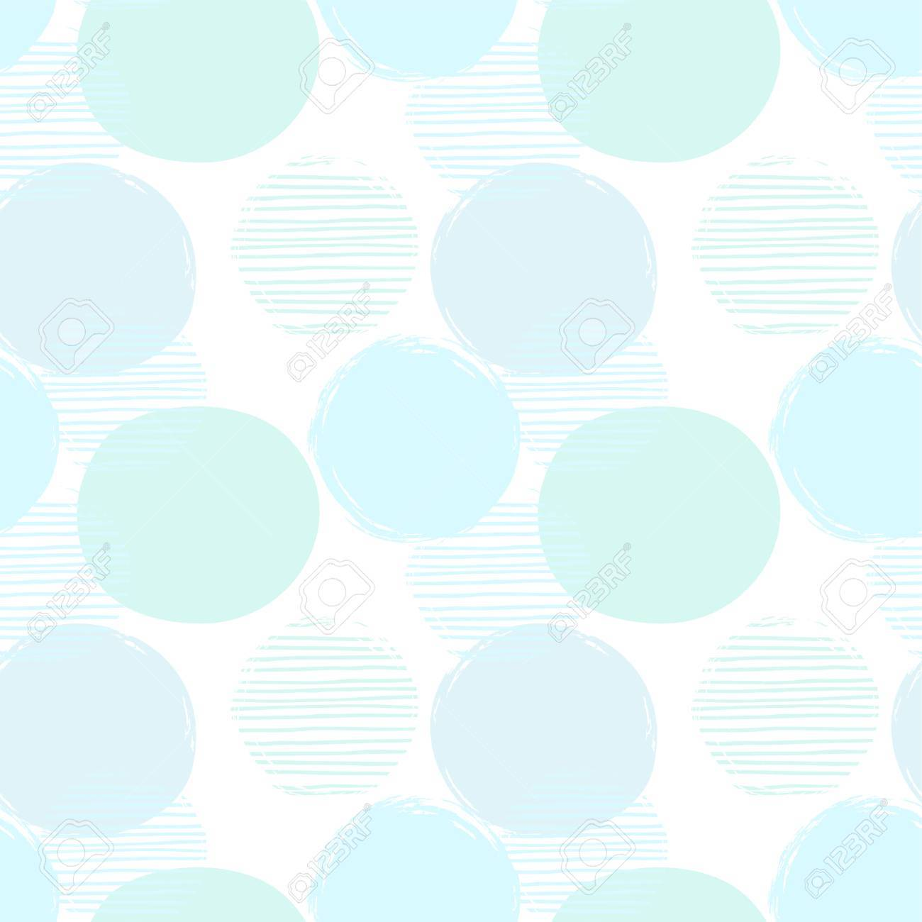 Abstract geometric seamless pattern with circles. - 85472841