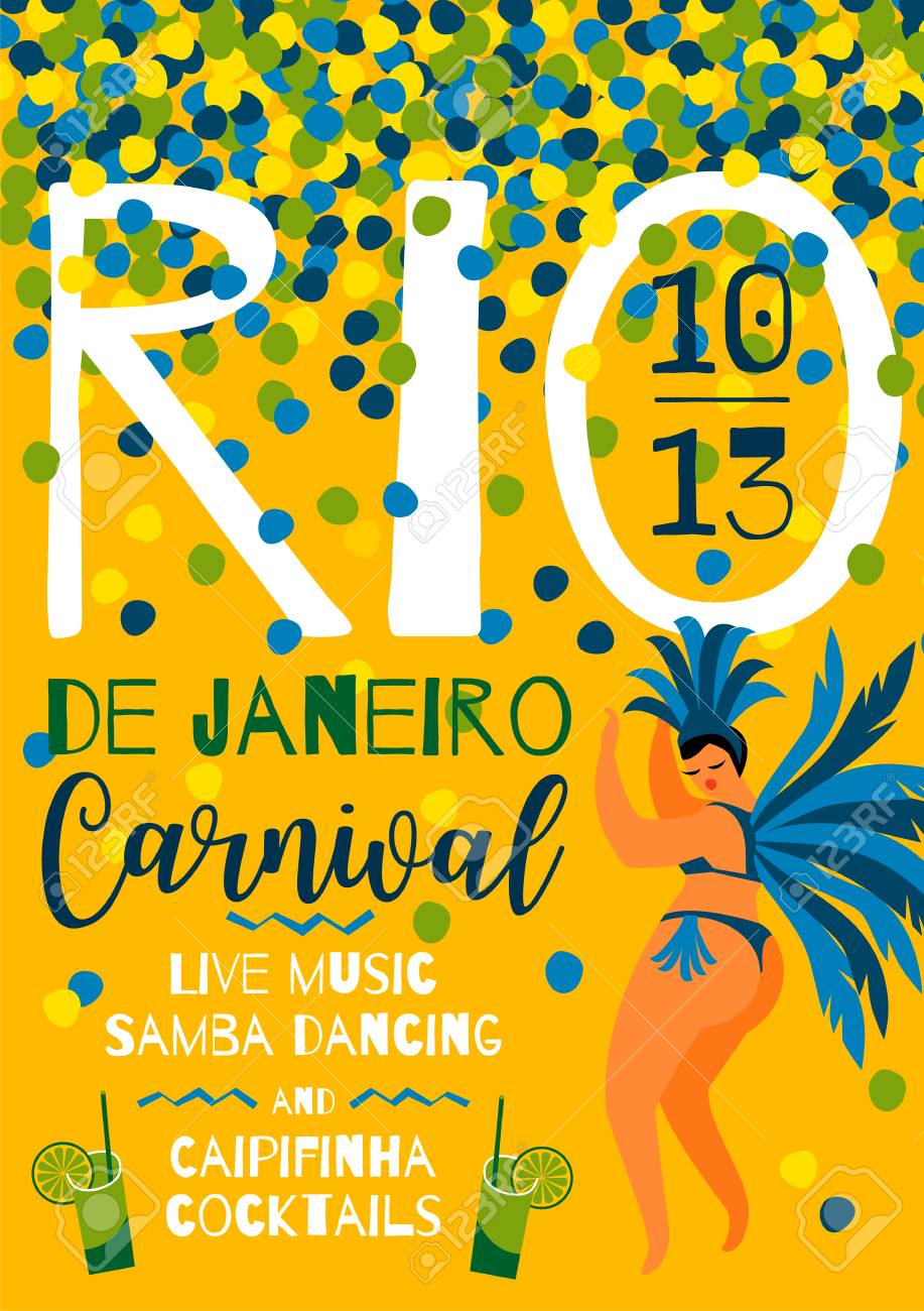 brazil carnival template for carnival concept invitation poster