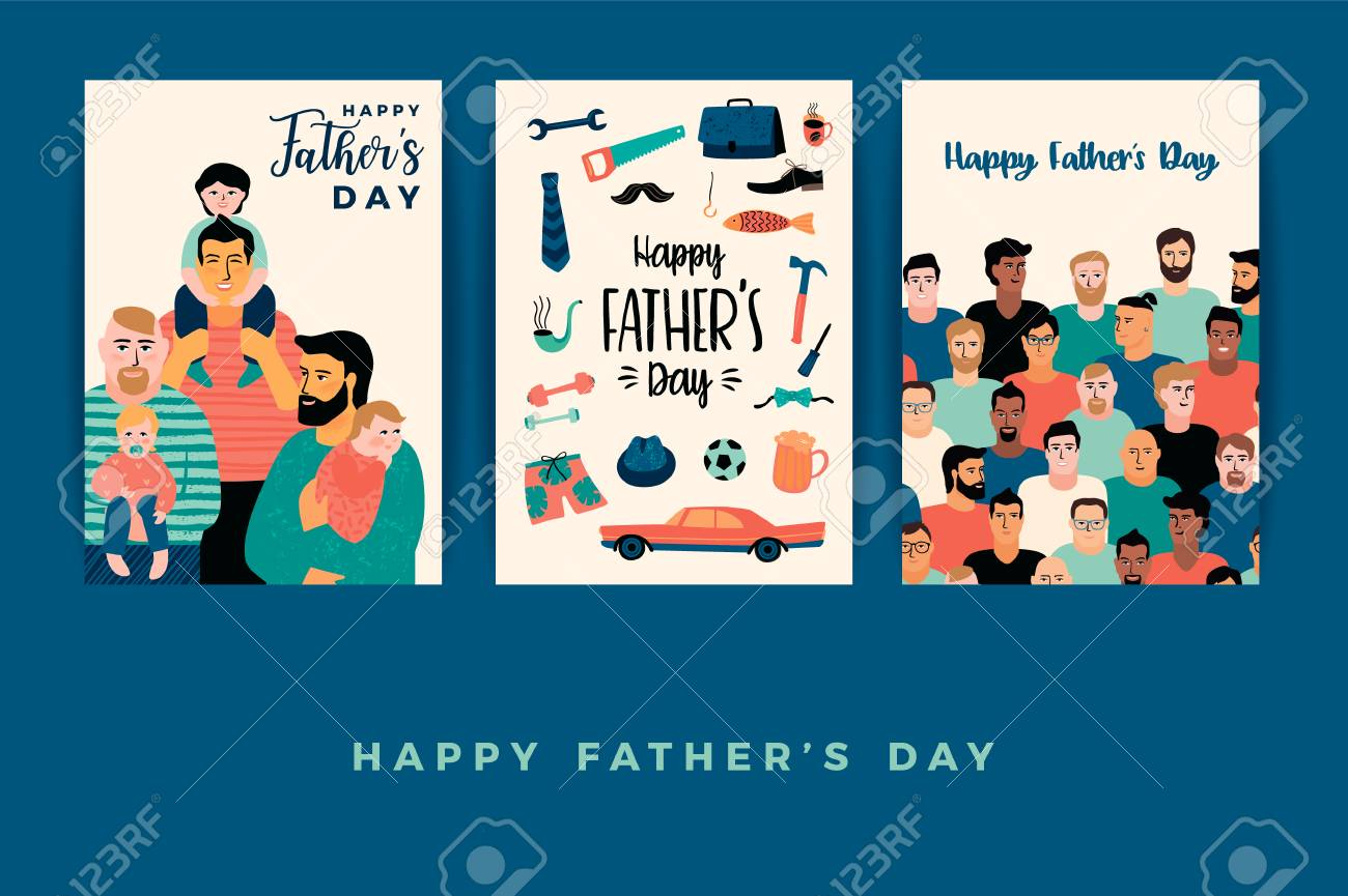 Happy Fathers Day. Vector templates. - 102763101