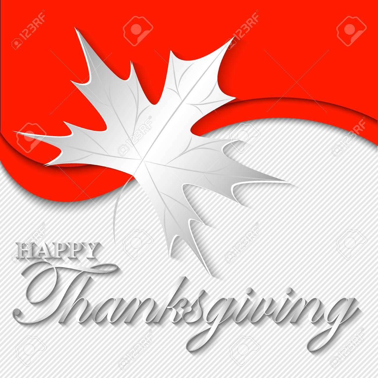 Maple Leaf On Original Background Vector Illustration For