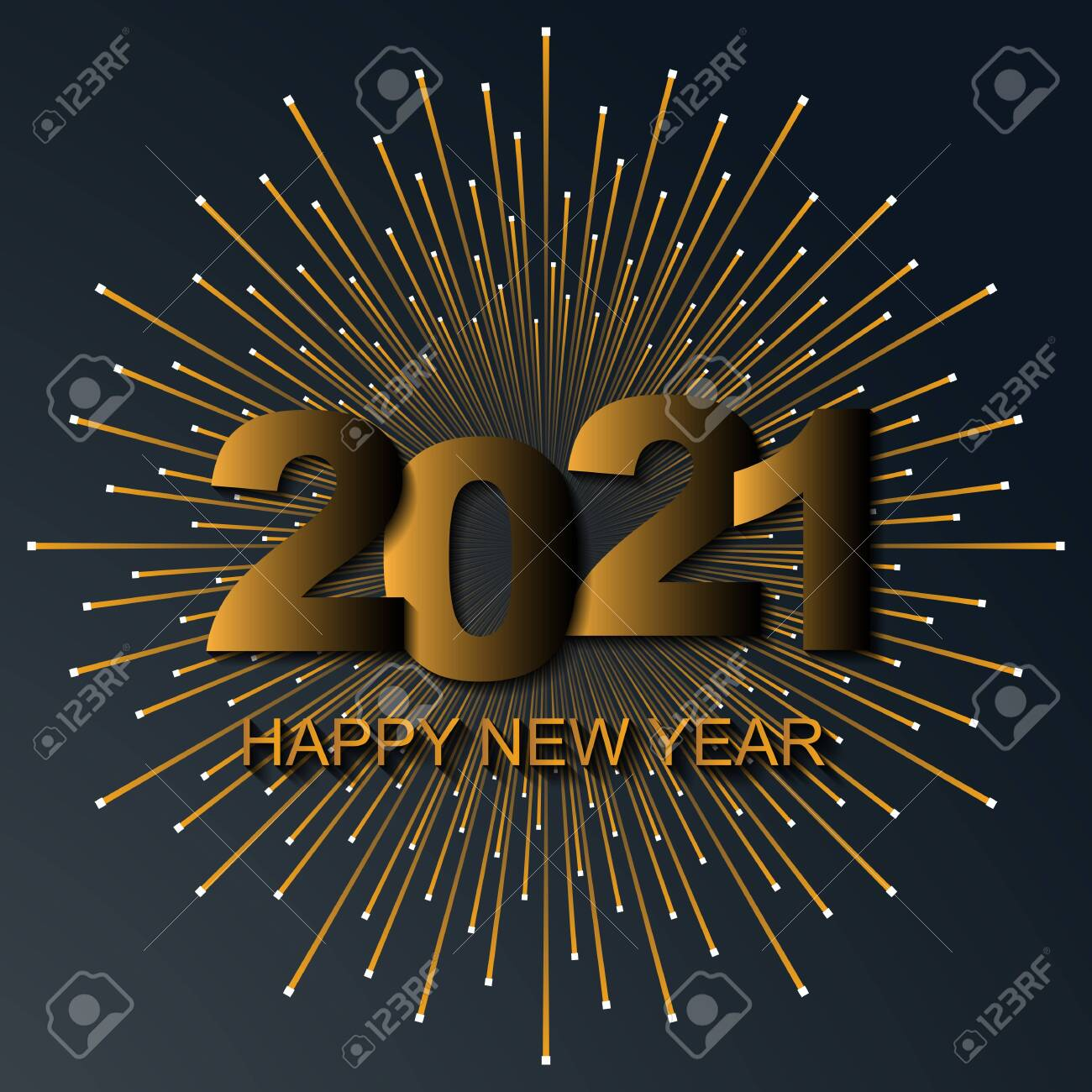 Black New Year Background Happy New Year 2021 Logo Text Design Royalty Free Cliparts Vectors And Stock Illustration Image 144387929