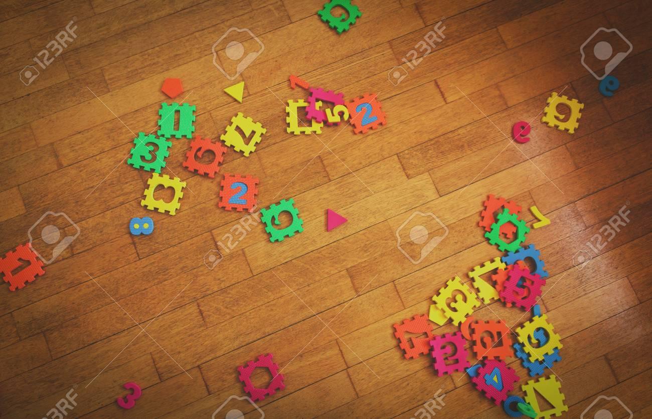 Sala Giochi Per Bambini : Immagini stock sala giochi per bambini con numero di puzzle