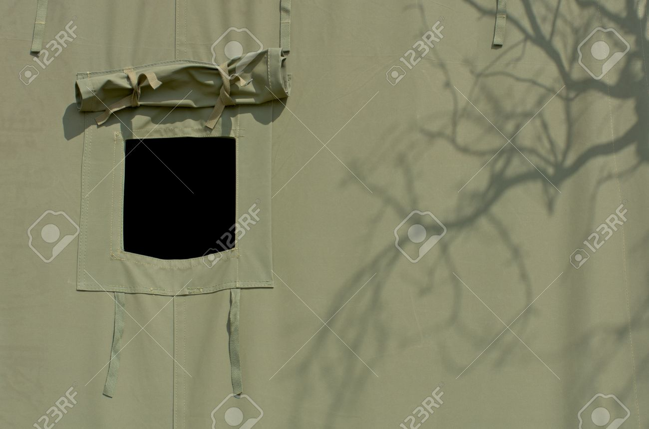opened window of military tent Stock Photo - 14277394 & Opened Window Of Military Tent Stock Photo Picture And Royalty ...