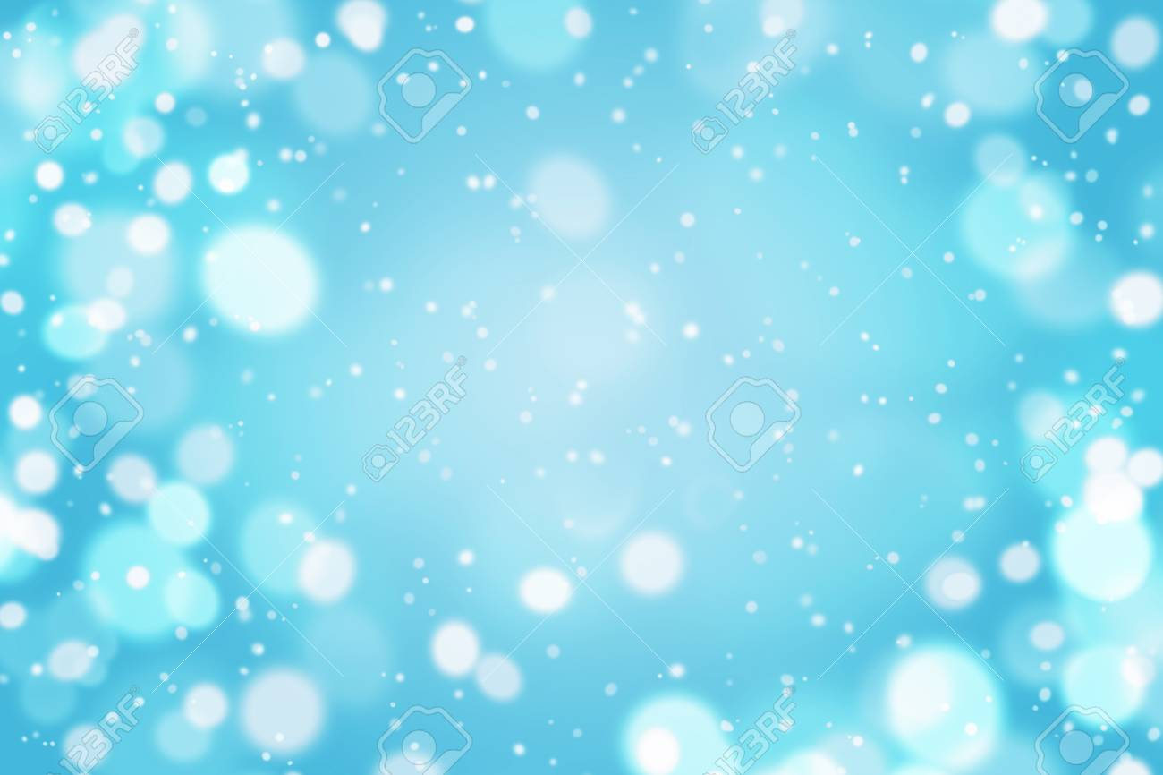 Light Blue Abstract Background With Fly Snow Empty For Your