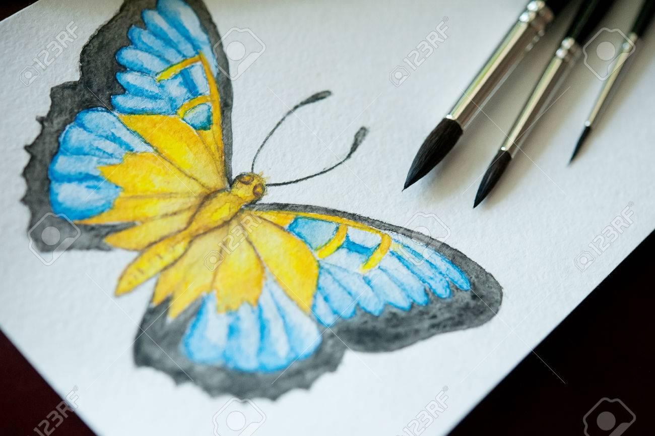 Conjunto De Lápices De Acuarela De Colores Pinceles Para Pintar Y